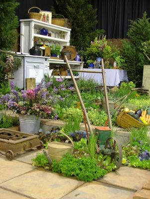 2006 Garden & Leisure Show. A feast of ideas for a working garden were for the taking from this display